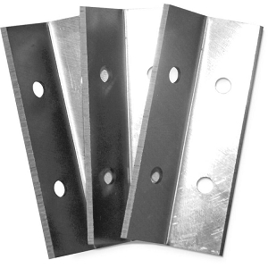 Oneida Air Systems AXS000003 Steel Angled Push Scraping Blade Pack 3-Pack