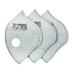 RZ Mask 43613 F3 Filter HEPA with Active Carbon 3-Pack Medium