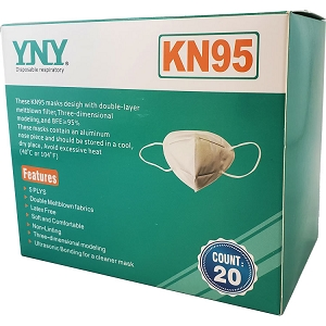 YNY KN95 Masks, 20-Pack of Reusable Masks