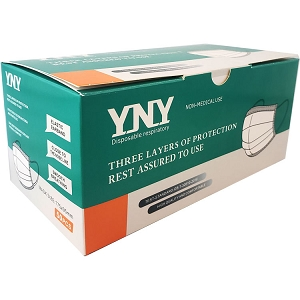 YNY Level 2 3-Ply Disposable Masks, 50-Pack