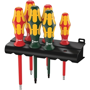 Wera 05347777001 160 i/168 i/6 Rack screwdriver set Kraftform Plus Series 100, and rack, 6 pieces