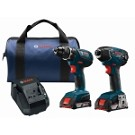 Bosch CLPK232A-181 18V 2-Tool Combo Kit with Compact Tough 1/2 In. Drill/Driver and 1/4 In. Hex Impact Driver