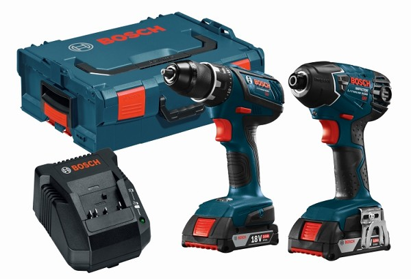 Bosch CLPK232A-181L 18 V Lithium-Ion Cordless 2-Tool Combo Kit with L-Boxx® Carrying Case