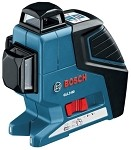 Bosch GLL3-80+LR2 360-Degree 3-Plane Leveling and Alignment Line Laser w/Receiver