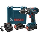 Bosch HDS181-02L 18 V Hammer Drill/Driver with 2 Slim Pack HC, Charger and L-BOXX