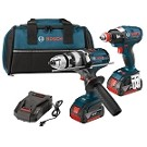 Bosch CLPK223-181 18V 2-Tool Kit with EC Brushless 1/4 In. and 1/2 In. Socket-Ready Impact Driver and Brute Tough™ 1/2 In. Drill/Driver