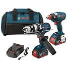 Bosch CLPK224-181 18V 2-Tool Combo Kit with EC Brushless 1/4 In. and 1/2 In. Socket-Ready Impact Driver and Brute Tough™ 1/2 In. Hammer Drill/Driver