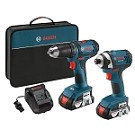 Bosch CLPK26-181 18V 2-Tool Combo Kit with Compact 1/2 In. Drill/Driver and 1/4 In. Hex Impact Driver