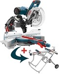 Bosch CM10GD 10 In. Dual-Bevel Glide™ Miter Saw w/T4B Gravity Rise Stand
