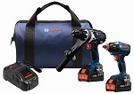 Bosch GXL18V-225B24 Bosch GXL18V-225B24 18 V 2-Tool Combo Kit with (2) CORE18 V 6.3 Ah Batteries