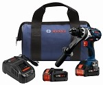Bosch HDH183-B24 Bosch HDH183-B24 18V EC Brushless Brute Tough™ 1/2 In. Hammer Drill/Driver Kit with (2) CORE18V Batteries