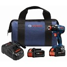 Bosch IDH182-B24 18 V EC Brushless 1/4 In. and 1/2 In. Socket-Ready Impact Driver Kit with (2) CORE18V Batteries