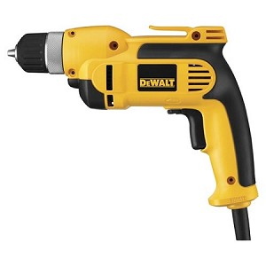 "Dewalt DWD110K 3/8"" (10mm) VSR Pistol Grip Drill Kit with Keyless Chuck"