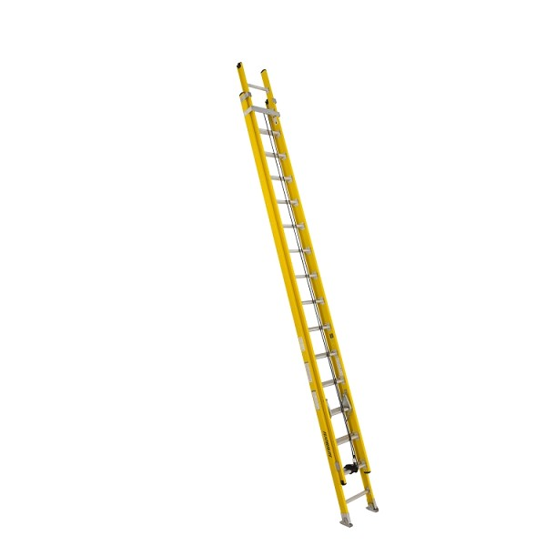 32 ft Featherlite 5732D Fiberglass Extension Ladder, Type IAA, 375 lb Load Capacity