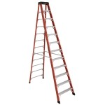 12 ft Featherlite 6812AA Fiberglass Step Ladder, Type IAA, 375 lb Load Capacity