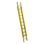 20 ft Featherlite 9220D Fiberglass Extension Ladder, Type IAA, 375 lb Load Capacity
