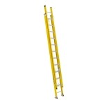 24 ft Featherlite 9224D Fiberglass Extension Ladder, Type IAA, 375 lb Load Capacity