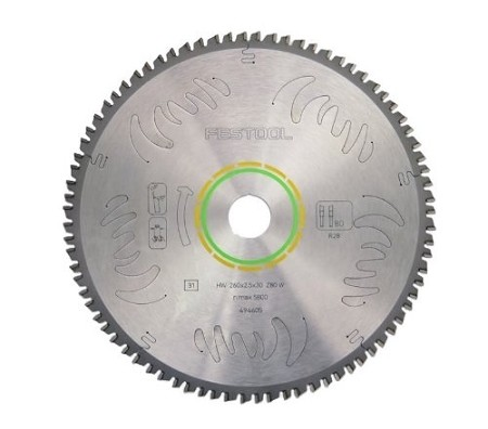 Festool 495387 Fine 80 Tooth Saw Blade
