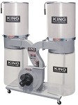 King Industrial KC-4045C/KDCF-3500 2,320 Cfm / 3 Hp Dust Collector With Canister Filter
