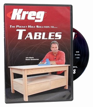 Kreg V05-DVD DVD - Pocket Hole Solution to TABLES