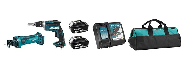 Makita DLX2089M 18V LXT Drywall Combo Kit