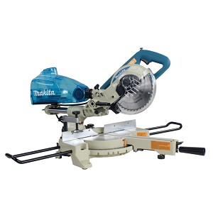 "Makita LS0714B 7-1/2"" Dual Sliding Compound Mitre Saw and Cyclonic Mitre Saw Dust Box"