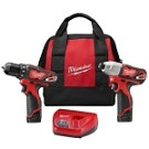 Milwaukee 2494-22 M12  Cordless LITHIUM-ION 2-Tool Combo Kit