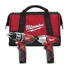 Milwaukee 2497-22 M12 Cordless LITHIUM-ION 2-Tool Combo Kit