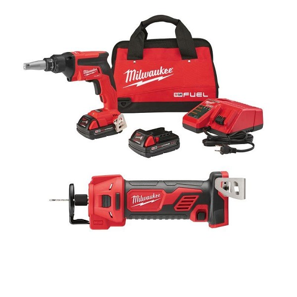 Milwaukee 2866-22CTP M18 FUEL Drywall Combo Kit