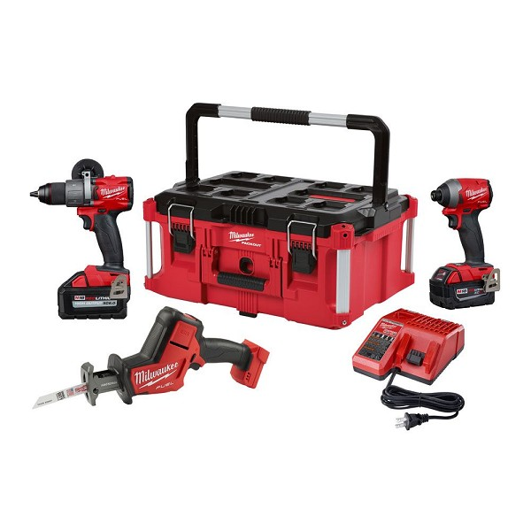 Milwaukee 2997-23POC M18 FUEL 3-Tool Combo Kit with Packout